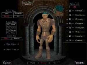 Création d'un personnage pré-Catacombs