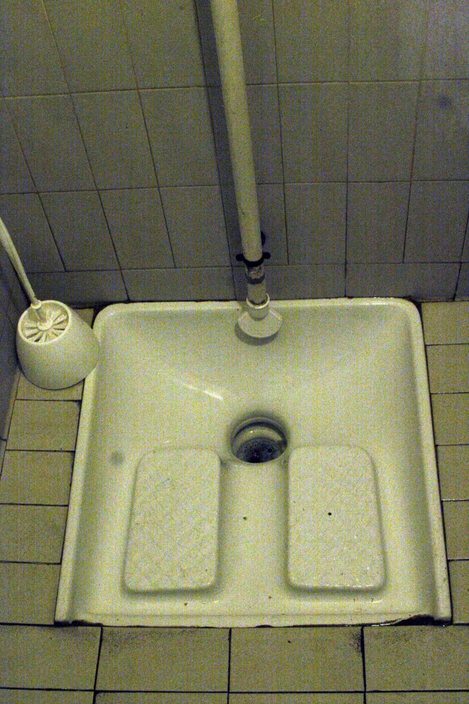 Quand les toilettes sont à la turque, cela ne présage rien de bon...