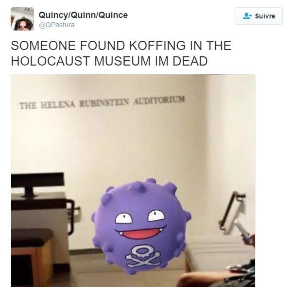 Quelqu'un a trouvé un Pokémon au mauvais endroit.