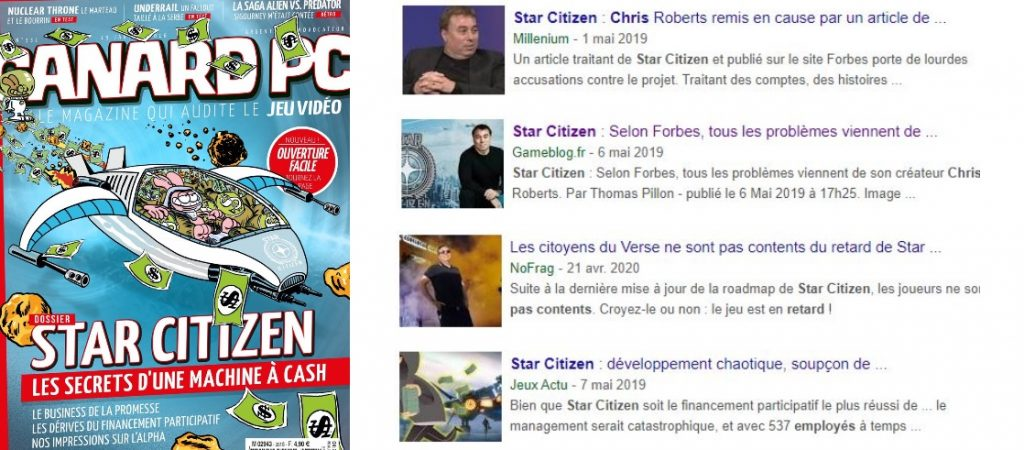 "Couverture de canard PC ""Star Citizen, les secrets d'une machine à cash"""